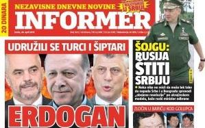 Sırbistan basını şizofrenik vaka.