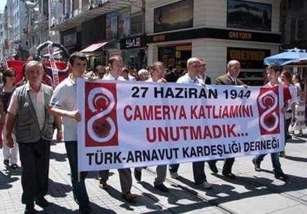 Türkiye'deki ilk Çamerya Arnavut Soykırımı Protestosu