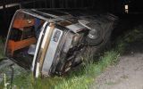 Sırbistan'da otobüs şarampole yuvarlandı 25 yolcu yaralandı.