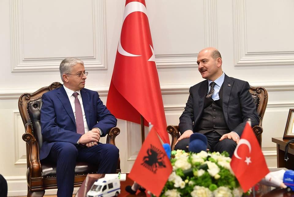 Arnavutluk İçişleri Bakanı Ankara'da