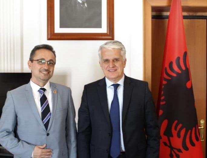 Diaspora Bakanı Pandeli Majko ile yaptığım görüşme.