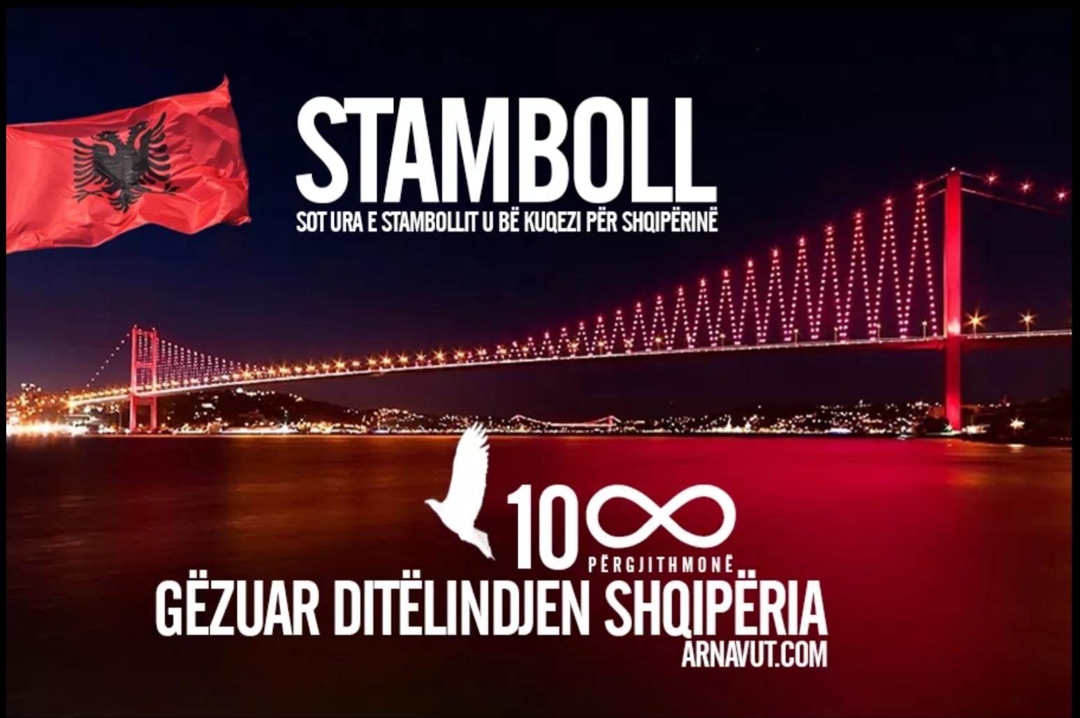 28 Kasım Bayrak Günü İstanbul'da Kutlandı