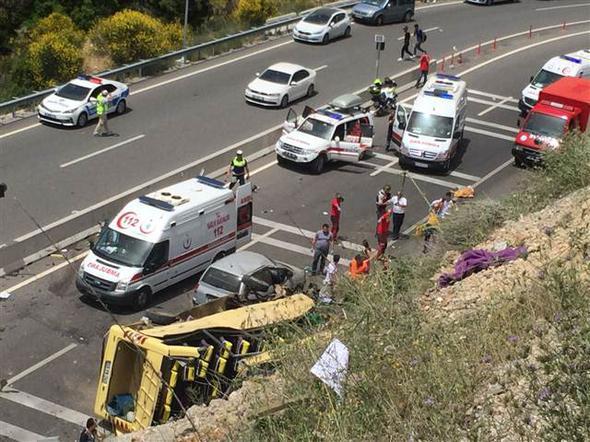 Muğla'da Türkiye'yi Yasa Boğan Feci Trafik Kazası