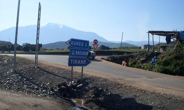 Fushë Arr'z – Rreps yolu inşaa ediliyor.