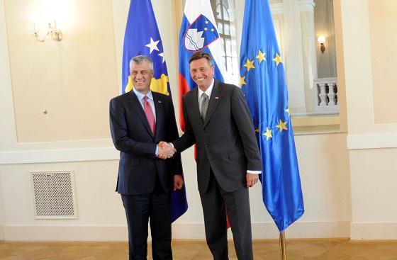 Thaçi Slovenya'yı Ziyaret Etti