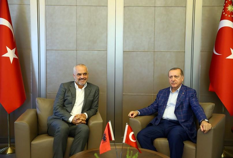 Başbakan Rama, Cumhurbaşkanı Erdoğan'ı ziyaret etti.