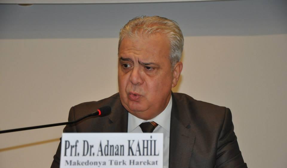 Makedonya Türk Hareket Partisi, Devlet Bakanı Adnan Kahil'i İhraç Etti