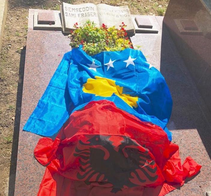 Şemsettin Sami Frashëri'nin Mezarına Ziyaret